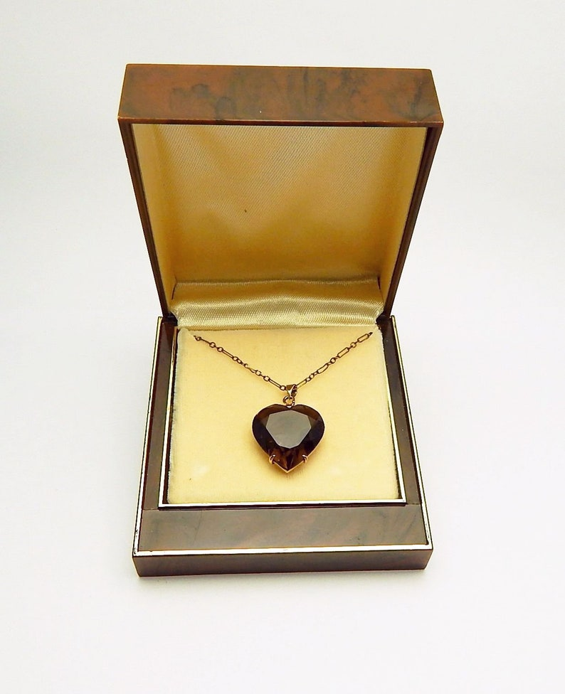 Necklaces & Pendants In Original Box Vintage Gold Filled Heart Locket With Tiny Diamond