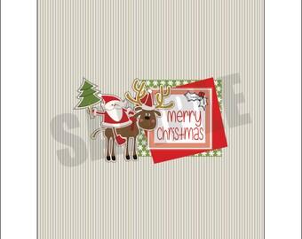 Natale Santa Candy Bar wrapper - 2 wrapper con profilo