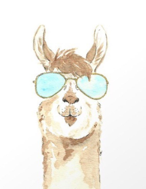 photograph about Llama Printable identify Sungles Llama printable - electronic obtain - llama print - humorous llama artwork - sungles artwork