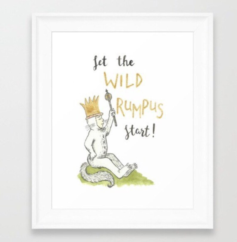photo about Let the Wild Rumpus Start Printable identify Make it possible for the Wild Rumpus Begin - Electronic print -wild elements - prompt obtain - nursery print