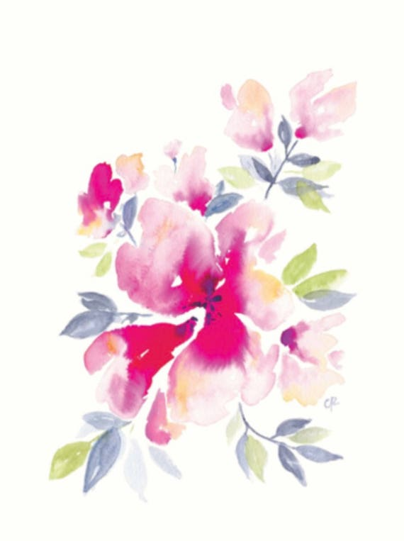 Abstract Watercolor Floral DIGITAL DOWNLOAD