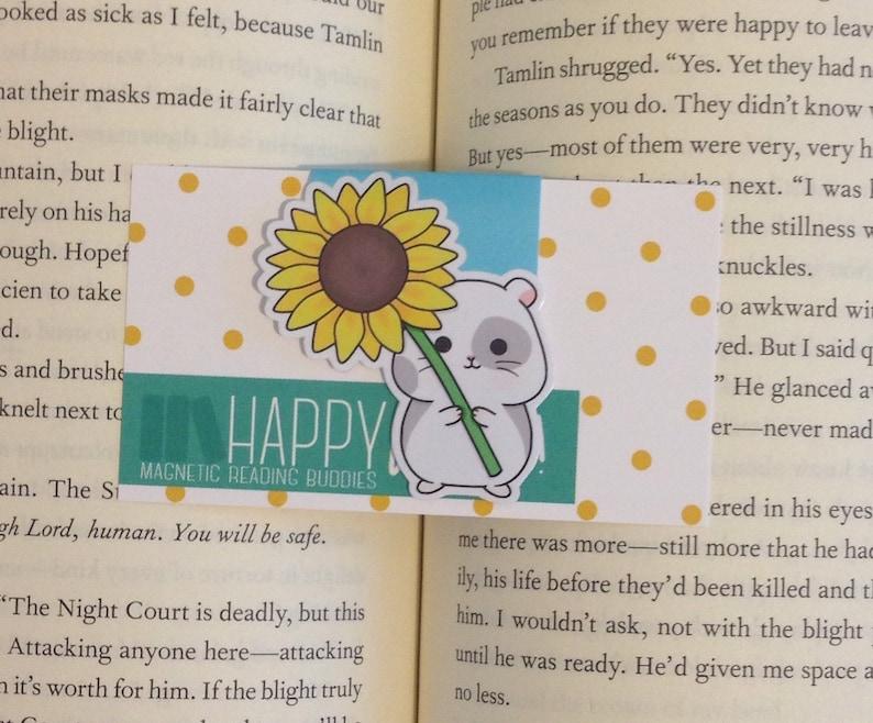 Magnetic Bookmarks • Sunflower Hamster
