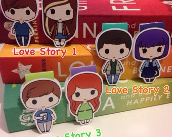 Magnetic Bookmarks • Love Stories