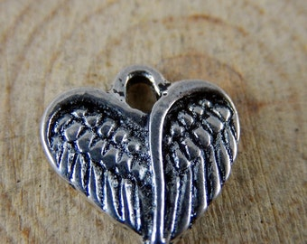 Wings heart charms heart of wings charms 10 charms