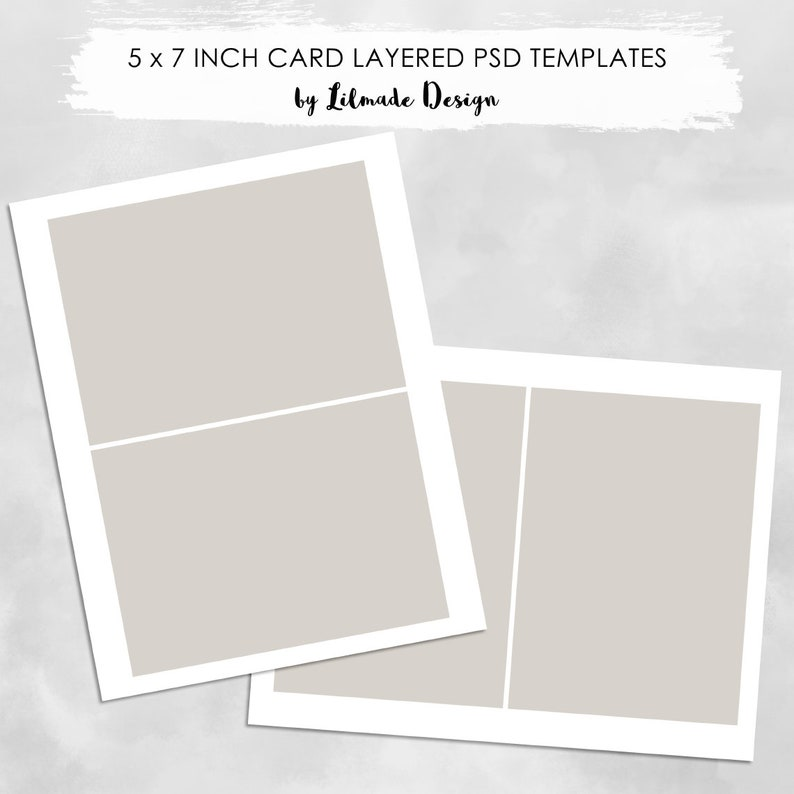 Invitation Card Template To Make 5x7 Inch And 7x5 Inch Cards Psd Layered File Templates Stationery Template Card Making Template P471