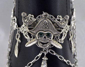 Pirate Boot Chain | Pirate's Plunder | Skull jewelry, Green Pirate, Dangle Boot Jewelry, Boot Chain, Statement Jewelry, Pirate Chain