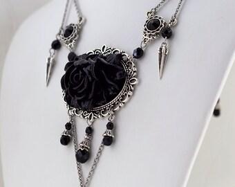 Briar Rose Gothic Statement Necklace