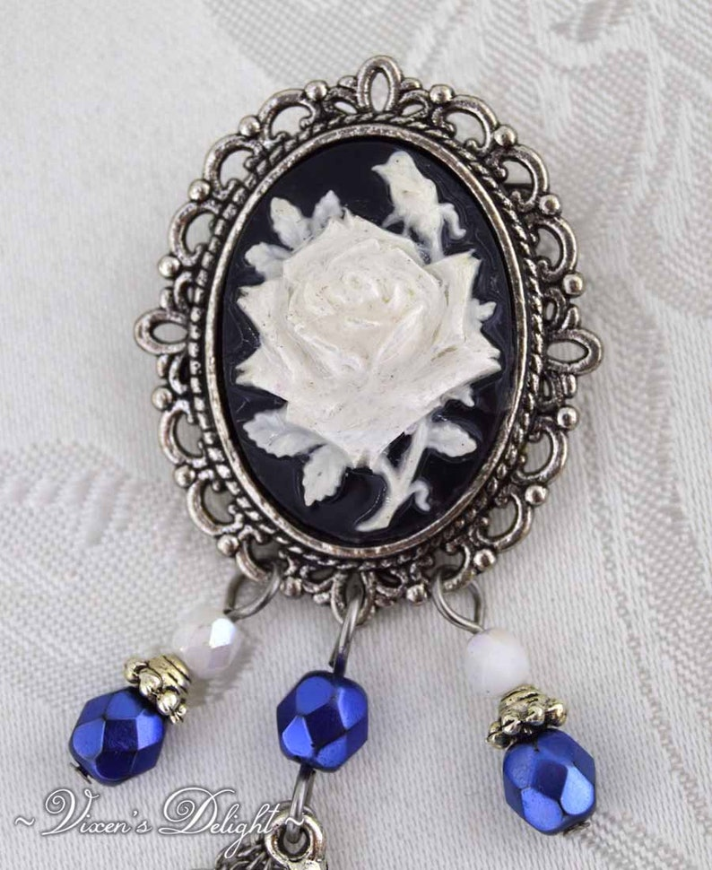 Cameo Brooch, Alice in wonderland Brooch The White Rabbit Wonderland Large Brooch Statement jewelry Time for Tea
