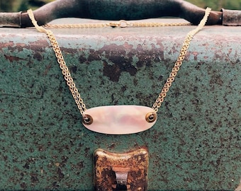 Mother of Pearl Lure Necklace / Bar Style