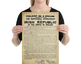 IRELAND irish proclamation republican top xmas birthday gift mens womens T SHIRT