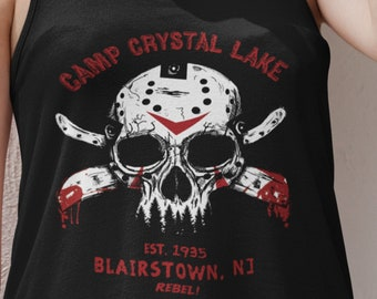 cb7acc872 Camp Crystal Lake Friday the 13th Jason Tank Top