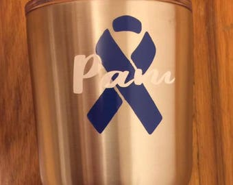 Personalized Cancer Ribbon Decal***FREE SHIPPING***