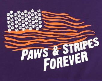 Paws and Stripes T Shirt***FREE SHIPPING***