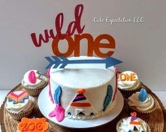 Wild One Birthday Cake Topper***FREE SHIPPING***