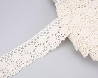140mm White Galloon Nylon Lace per metre