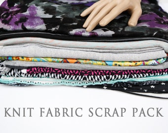 Knit Fabric Variety Surprise Scrap Pack Larger Pieces