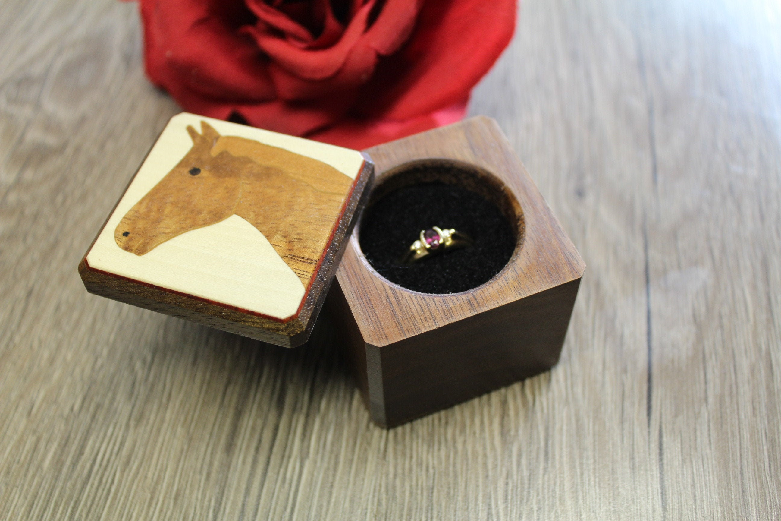 personalized jewelry box gift for women rustic dried flower ring box custom vintage hokder for ring mini birdnest ring bearer