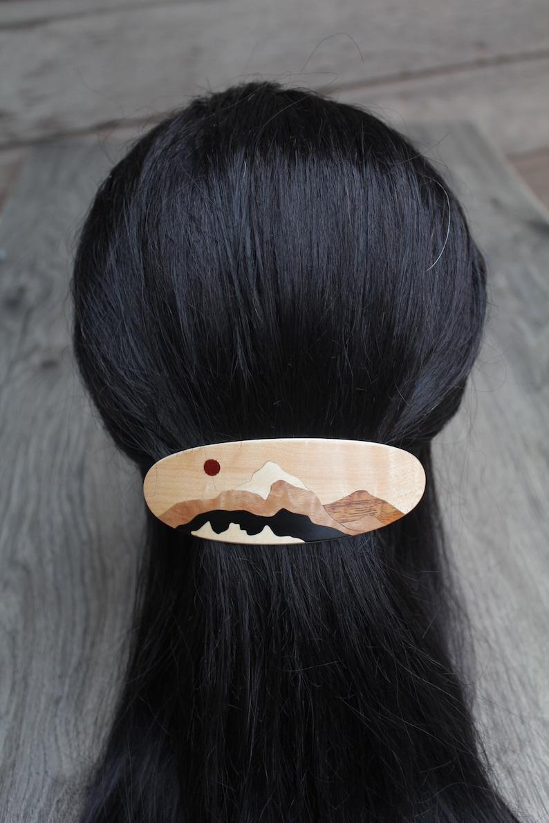 French France Hair Clip Hair Clip Barrette Luxury French Barrette Large Flower Hair Barrette Black Hair Clip Women accessories