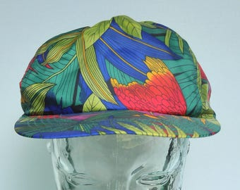 Vintage Tropical Parrot Colorful Snapback