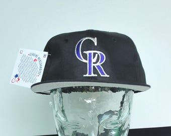 Vintage 90s Colorado Rockies Hat Deadstock Snapback Logo 7 415549e745ea