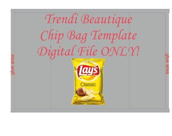 Chip Bag Template Etsy