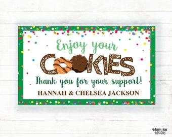 picture about Girl Scout Cookie Thank You Note Printable called Occasion thank yourself observe Etsy