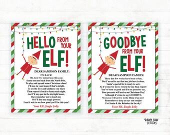 Goodbye Letter Elf Etsy