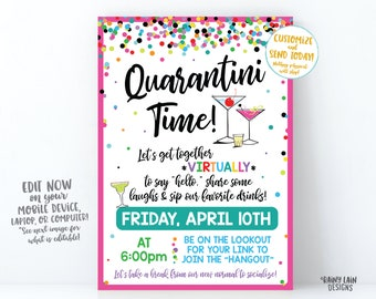 Happy Hour Invite Etsy