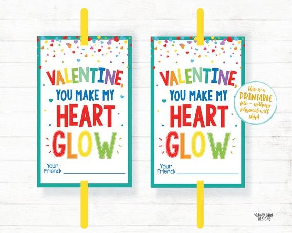 You Make My Heart Glow Valentine Glow Stick Valentine