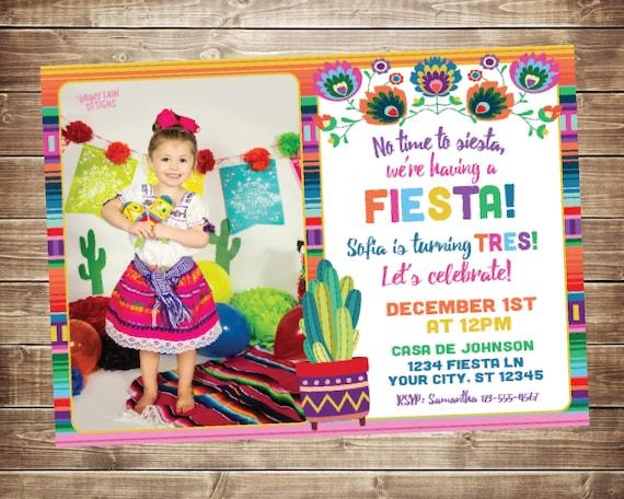Fiesta Einladungen Fiesta Einladen Mit Foto Mexikanische Etsy