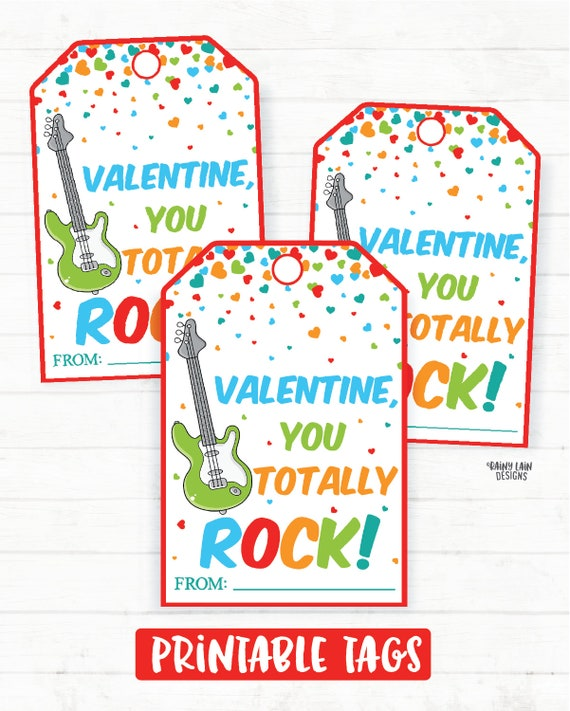 photo regarding You Rock Valentine Printable titled Yourself Rock Valentine, Guitar Valentine, Pop Rocks Valentine, Preschool Valentines Clroom Valentines Printable Small children Non-Sweet Valentine Tags