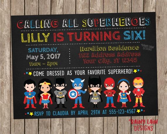 Superhero Invitation Birthday Boy