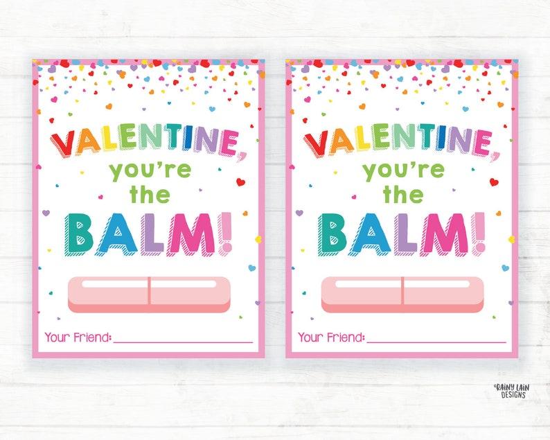 You're the Balm Valentine Lip Balm Valentine Chapstick | Etsy