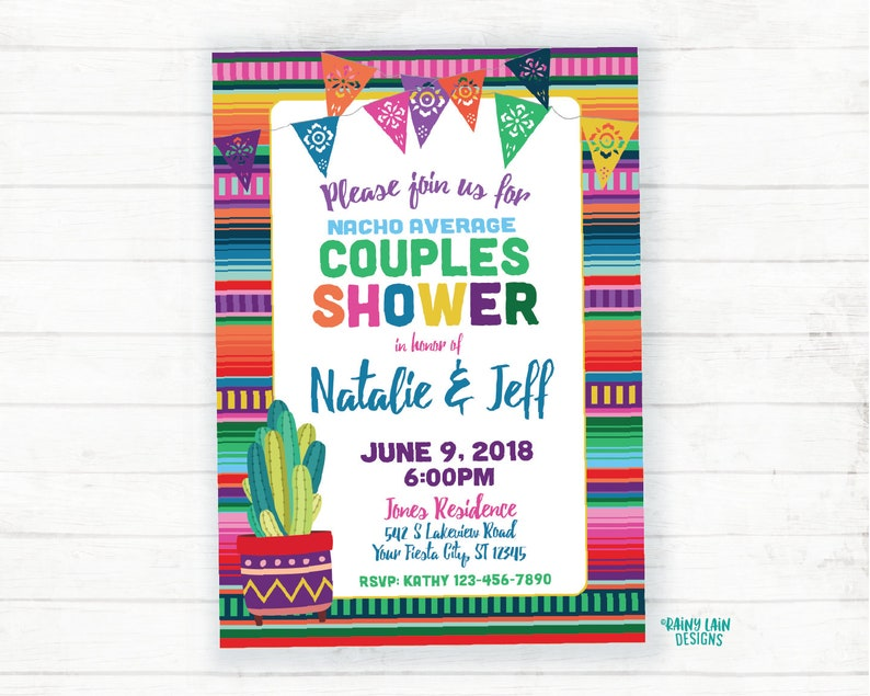 Couples Shower Invitation Fiesta Couples Shower Invitation Couples Shower Fiesta Invite Wedding Shower Ideas Mexican Fiesta Cactus