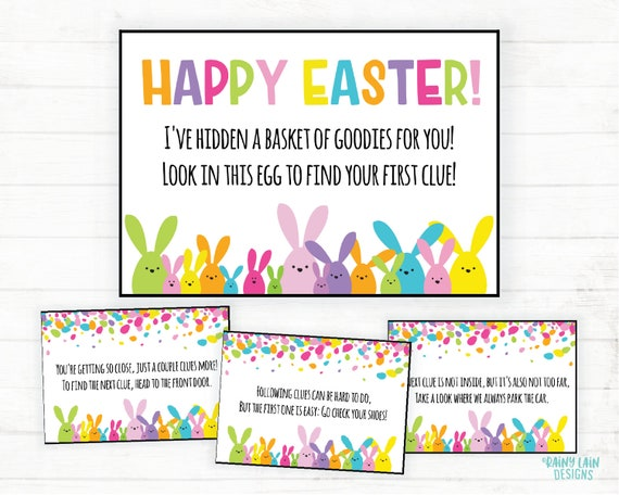 image relating to Printable Easter Egg Hunt Clues known as Easter Scavenger Hunt, Bunny Clues, Easter Egg Hunt Printables, Easter Treasure Hunt, Notes versus the Easter Bunny Scavenger Hunt Printable