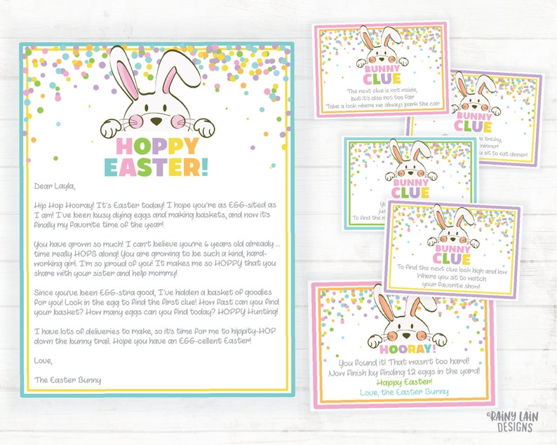 Easter Scavenger Hunt and Easter Bunny Letter