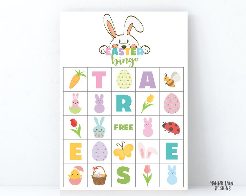 image relating to Spring Bingo Game Printable titled Easter Bingo, Spring Bingo Printable Easter Sport, Printable Bingo, Preschool Bingo, Kindergarten Bingo, University Printables, Easter Printables