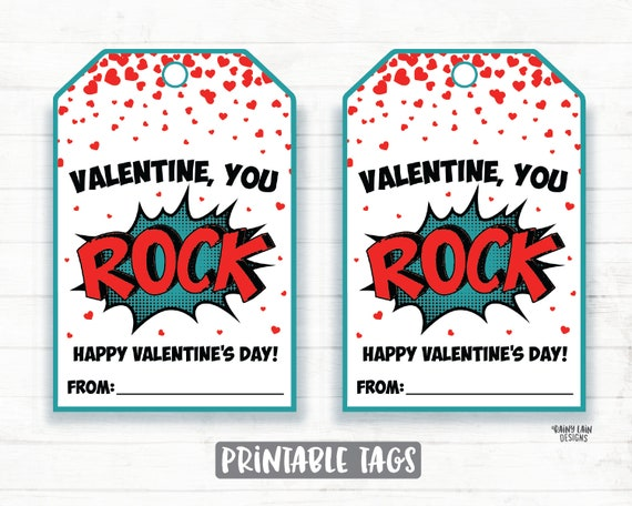 image relating to You Rock Valentine Printable identified as Yourself Rock Valentine, Rock Valentine, Pop Rocks Valentine, Preschool Valentines Clroom Valentines Printable Small children Non-Sweet Valentine Tags