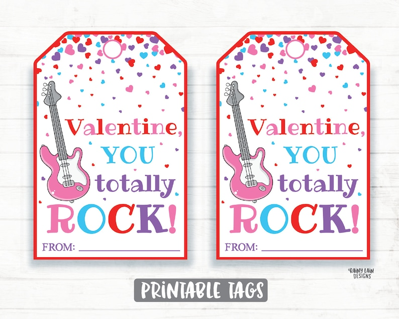picture regarding You Rock Valentine Printable identify On your own Rock Valentine, Pop Rocks Valentine, Guitar, Rock Portray, Preschool Valentines Clroom Printable Small children Non-Sweet Valentine Tags