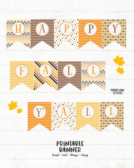 image relating to Happy Fall Yall Printable known as Content Drop Yall Printable Banner, Slide Banner, Slide Signal, Delighted Slide Yall Banner, Drop Decorations, Printable, Polka Dots, Stripes, Chevron