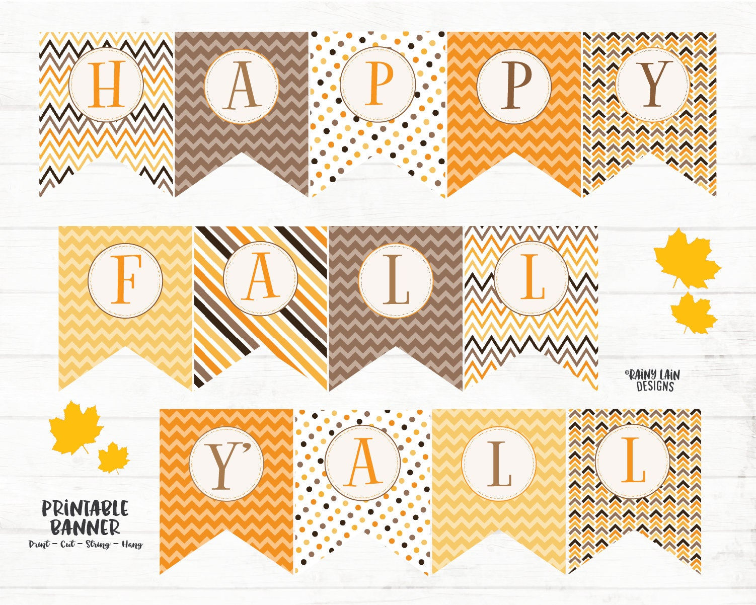 image about Happy Fall Yall Printable named Pleased Drop Yall Printable Banner, Drop Banner, Slide Indication, Content Slide Yall Banner, Slide Decorations, Printable, Polka Dots, Stripes, Chevron