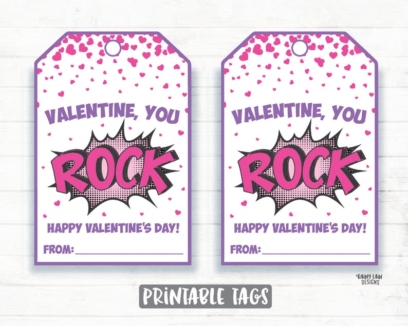 graphic relating to You Rock Valentine Printable known as Oneself Rock Valentine, Painted Rock, Lady Superhero Valentine, Pop Rocks Valentine, Preschool Valentines Clroom, Printable Valentine Tags