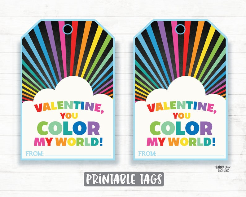 picture about You Color My World Printable referred to as Oneself Shade My Planet Valentine, Crayons, Coloring, Rainbow, Cloud, Preschool Valentines, Clroom, Printable Little ones Non-Sweet Valentine Tag