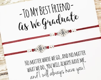 Set of Two Graduation Bracelets Gift for Friends Best Friend ...