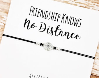 Best Friend Bracelet | Long Distance Friend | Friendship Bracelet | Going Away Gift | Friendship Card | Goodbye Gift | Gift for Best Friend