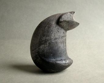 """Ceramic figure """"Grey cat""""Ceramic figure """"Grey cat""""   sculpture of a """"Grey Cat"""" , handmade, ceramics"""