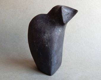 "Ceramic sculpture ""Black Cat"", sculpture of Raku, minimalism, a figurine of a cat, figurine, pets, animal figurines,a collection of cats,art"