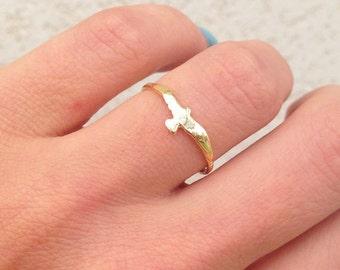 Brass Bird Stacking Ring