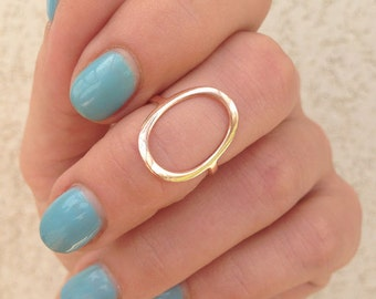 20% off- SALE!! Gold Circle Ring - Gold Ring - Silver Circle Ring - Eternity Ring - Geometric Ring - Simple Ring - Everyday Jewelry
