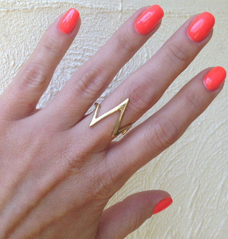 Everyday Ring Gold Ring Everyday Wear Statement Ring- Simple Ring Geometric Ring Stack Ring Silver Ring